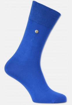 Mercerized men sock with rivet, royal blue
