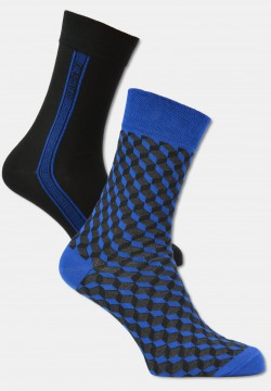 Herren Socken in 3D-Optik, 2er Pack