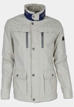 Jacket with reverse collar, creme