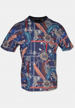 Tolles T-Shirts mit Allover-Print, Navy