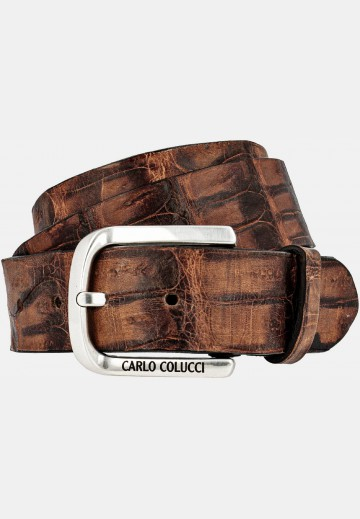 Precious belt in caiman leather
