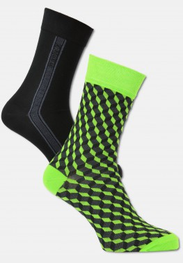 Men's socks in 3D optics, 2-pack