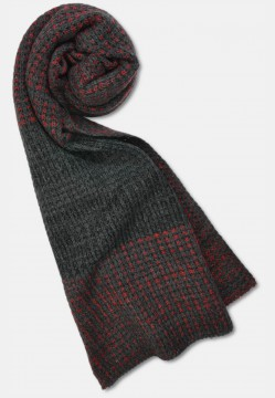 Stylish knitted scarf in color mix