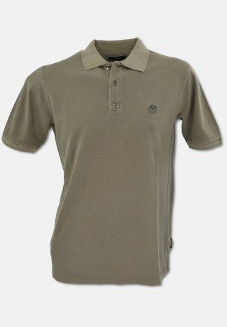 Legeres Polo-Shirt aus gekämmter Baumwolle mit Washed-out-Optik