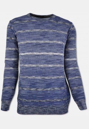 Gestreifter Pullover in Woll-Mix