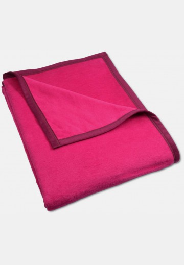 Soft blanket in cotton, pink