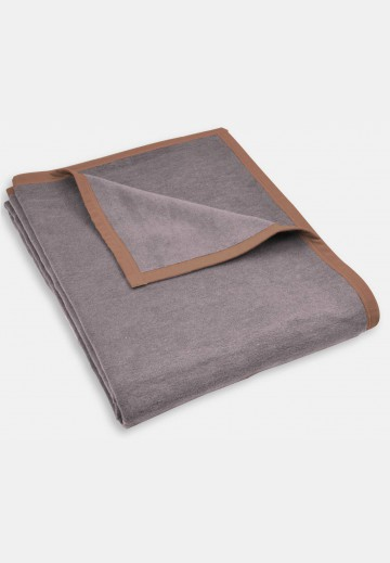 Soft blanket in cotton mix, grey
