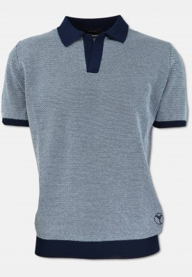 Polo shirt with contrasting colours, navy