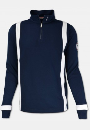 Troyer with zipper, navy