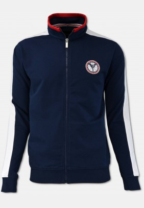 Sporty sweat jacket, navy