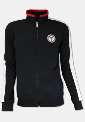 Sporty sweat jacket, black