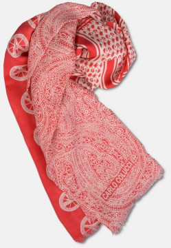 Scarf in silk mix, red
