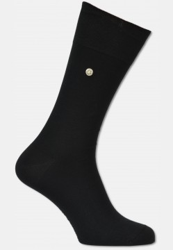 Mercerized men sock with rivet, black