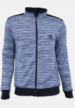 Sweat jacket with trendy colour gradient, blue
