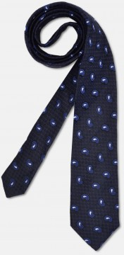 Elegant tie with fine texture, navy