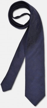 Elegant tie with discreet pattern, navy