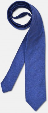 Elegant tie with discreet pattern, royal blue