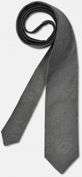 Elegant tie with discreet pattern, grey