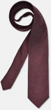Elegant tie with discreet pattern, bordeaux