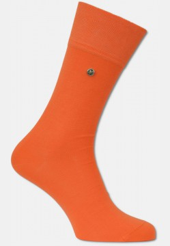 Mercerized men sock with rivet, orange