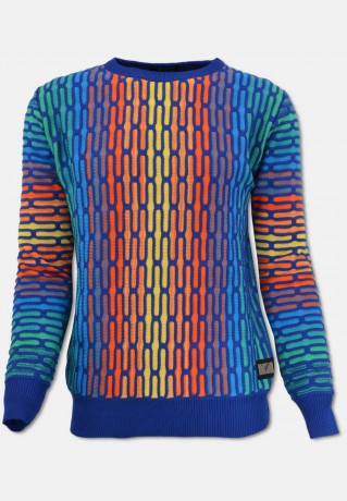 All-Over Jacquard Pullover, Bunt