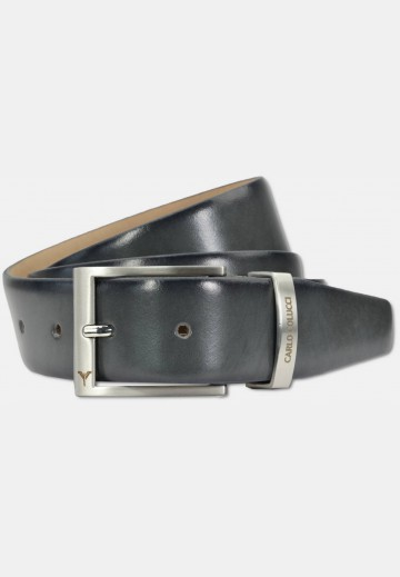 Classic belt in smooth leather, grey