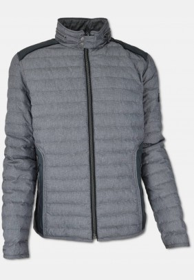 Leight weight quilted jacket, dark grey