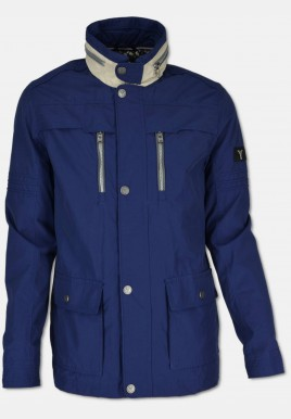 Jacket with reverse collar, navy
