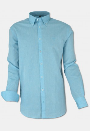 Summerly linen shirt, turquoise