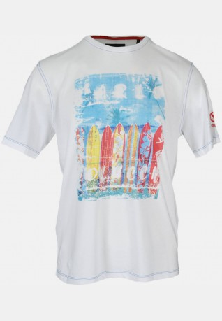 Summerprint T-shirt, white