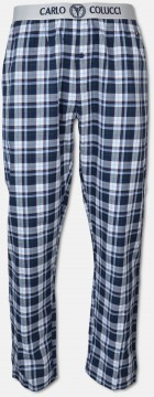 High-quality lounge pant with woven waistband, blue checkered