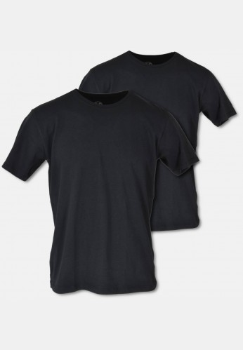 Crew neck t-shirt in twin pack, black