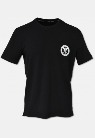 Basic logo T-Shirt with crew neck, black