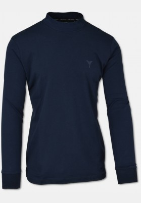 Casual stand-up collar shirt, Blue