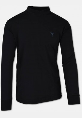 Casual stand-up collar shirt, black