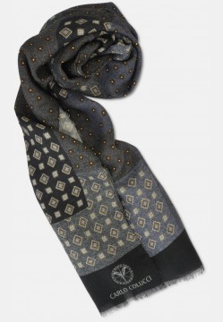Scarf with diamond-pattern, anthracite