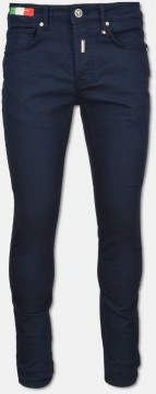Flat Jeans in Twillstoff, Navy
