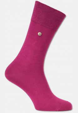 "Sock ""FIRENZE"" made of mercerized cotton with rivet, pink"
