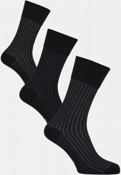 Modern stripe socks, black