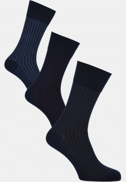 Modern stripe socks, navy
