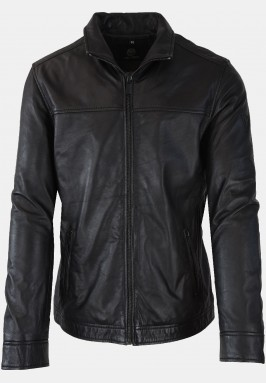 "Soft leather jacket ""Matteo"", black"