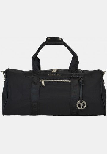 Weekender with silver details, black