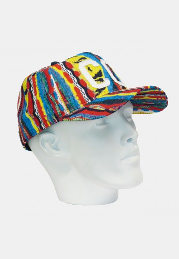 Colorful men's cap, navy-colored