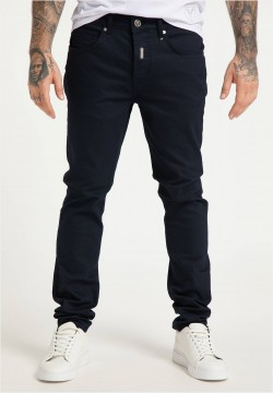 Flat Jeans in Twillstoff, Navy 29W