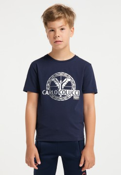 Boys logo T-shirt, navy
