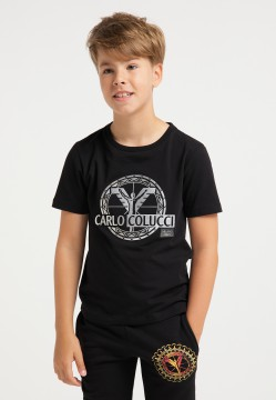 Boys logo T-shirt, black