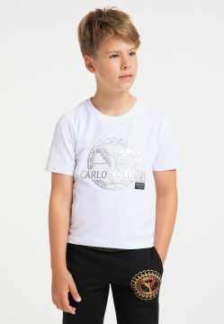 Boys logo T-shirt, white