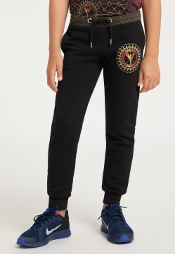 Casual children sweat pants, black