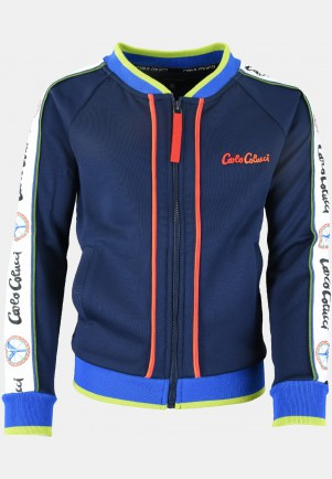 Boys sweat jacket, navy