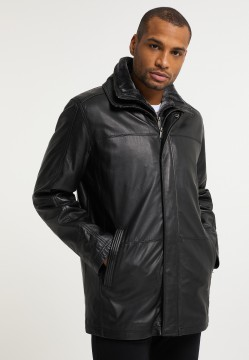 "Men's leather jacket ""CARLSON"", black"